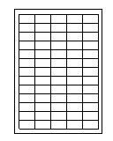 Klebe-Etiketten auf A4-Bogen 38,0  x 21,2 mm