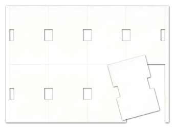 Stabetiketten Janus 70 x 105 mm, weiß, 190 µ