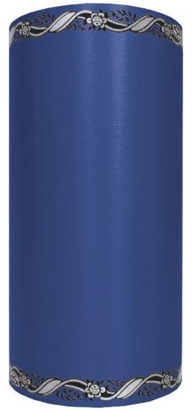 Schleifenband SUPER-SATIN, zweifarbiger Randdruck silber