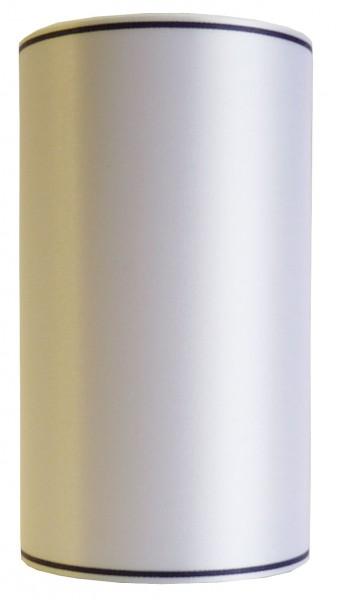 Schleifenband SATIN, Rand schwarz