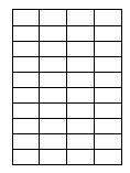Klebe-Etiketten auf A4-Bogen 52mm x 31mm