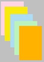 Maxi-Plakate Folien 2 x A5 - farbig, 120 µ