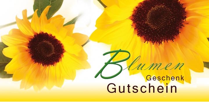 """Anschreiben mit Gutschein """"Sonnenblume"""""""